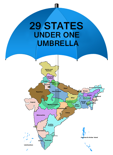 29 States under one Umbrella